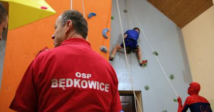 Zawody wspinaczkowe zorganizowane przez OSP Będkowice