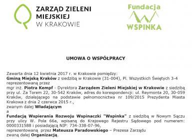 Umowa o współpracy z Zarządem Zieleni Miejskiej