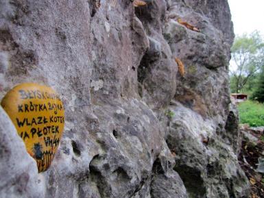 Skała nad potokiem w Sułoszowej